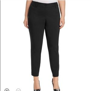 MICHAEL KORS Black 5 Pocket Crop Skinny PANTS 16W